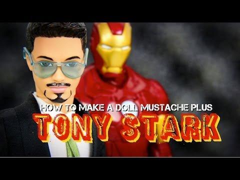 DIY - How to Make: Doll Mustache - Custom Doll: Tony Stark - Handmade - Doll - Crafts
