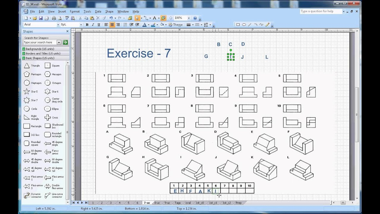 Isometric Drawing Exercises With Answers klejonka – Isometric Drawing Worksheet