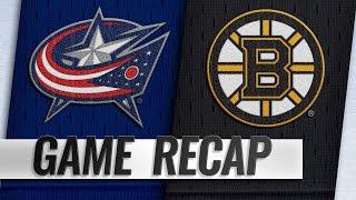 Marchand's OT winner propels Bruins past Blue Jackets
