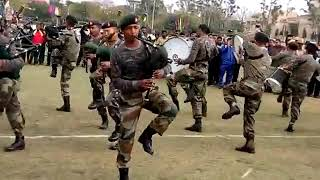 Pipe Band team of Assam Rifles during practice for All India Band Competition   YouTube 360p