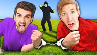 HANDCUFFED BY HACKER FOR 24 HOURS CHALLENGE (Chasing Project Zorgo for Clues)