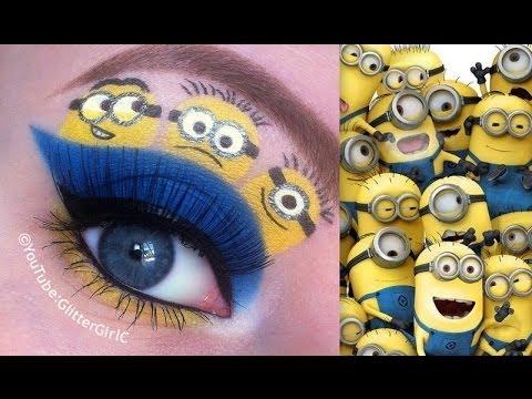 make up návod, líčenie návod, ako byť krásna, líčenie očí, očné tiene, dievčenské veci, mimoni, mimoňovia, rozprávkové líčenie