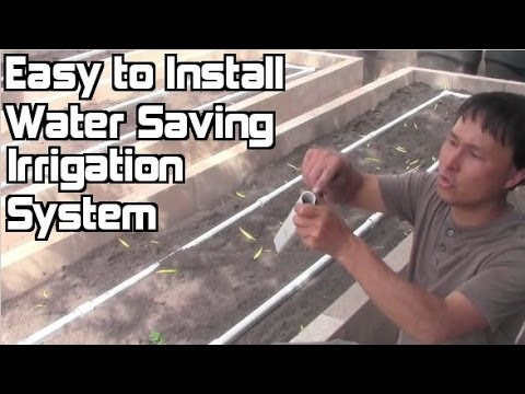 Easy to Install Irrigation System for Raised Bed Gardens that Beats Drip Irr