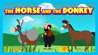 THE HORSE AND THE DONKEY - English Bedtime Story || Animated Storytelling - Kids Time