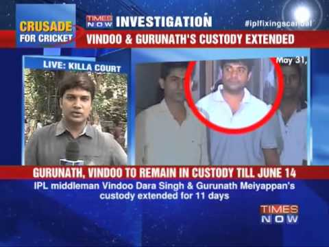 Gurunath, Vindoo in judicial custody