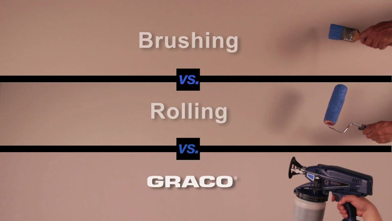 the race brush roller vs paint spraying youtube
