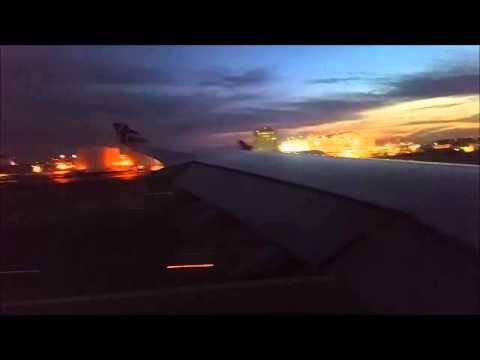 Virgin Atlantic A340-600 takeoff from Los Angeles   Dec 2014