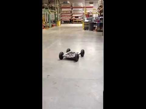 4WD SuperDroid style robot driving test