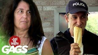Hungry Cop Eats Stranger