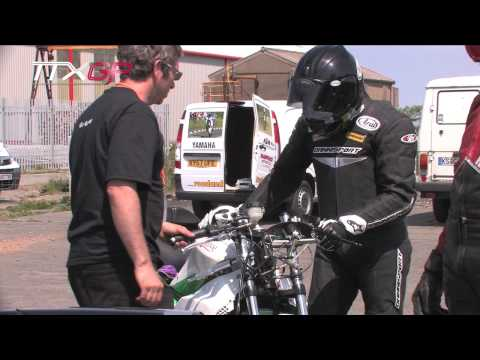 Isle of Man TT TTXGP - Chris Heath rides Native Motorcycles / Electric Motorsport at Jurby