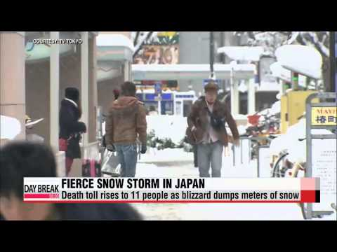 Death toll from Japan snowstorm rises to 11   일본 혼슈 중•북부 폭설 피해... 11명 사망