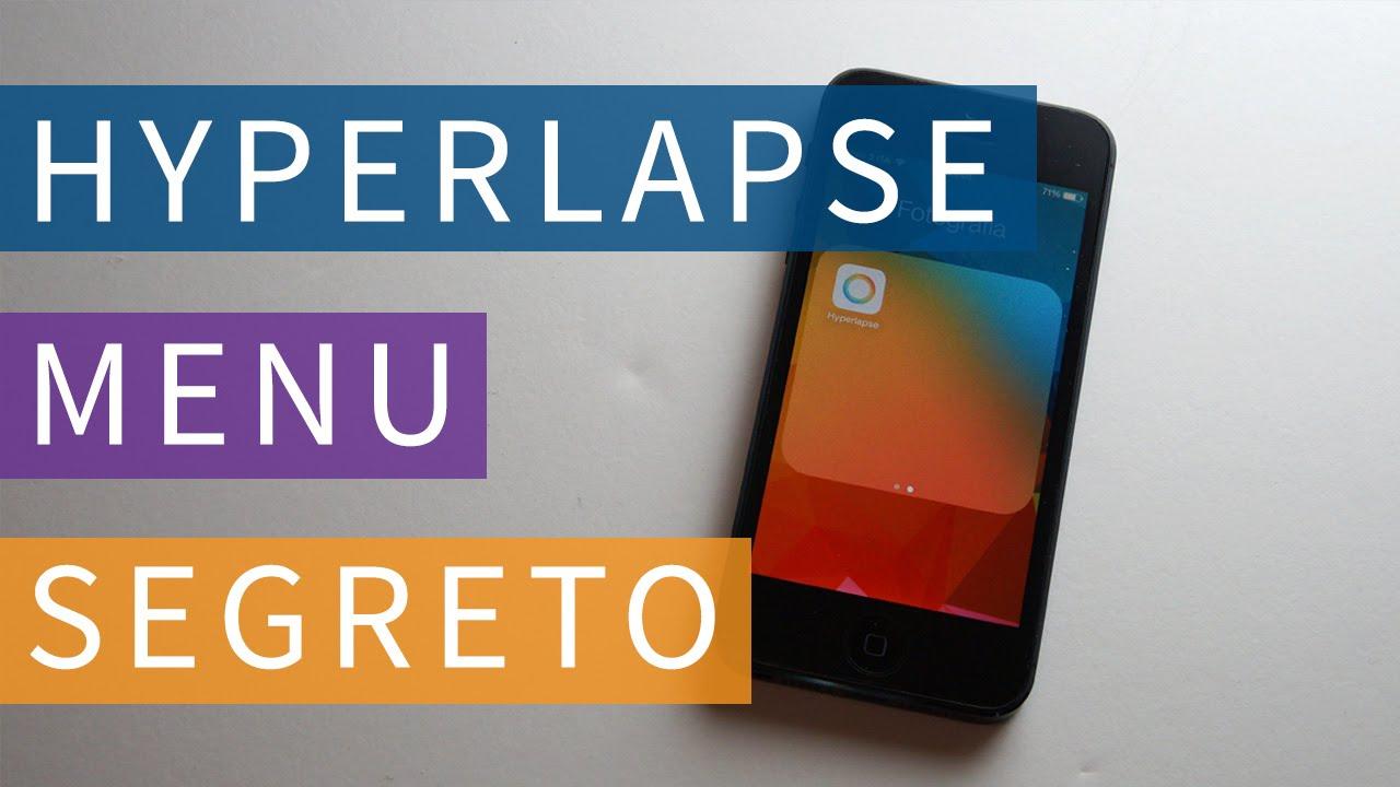 Hiperlapse menu segreto youtube for Menu segreto palazzetti