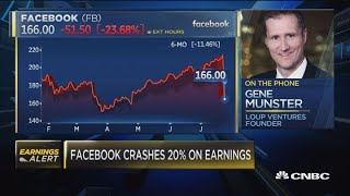 Facebook crashes 20 on earnings