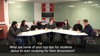 Dissertation Question Time - Tips for your dissertation