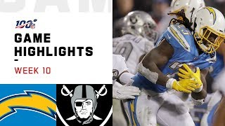 Chargers vs. Raiders Week 10 Highlights  NFL 2019