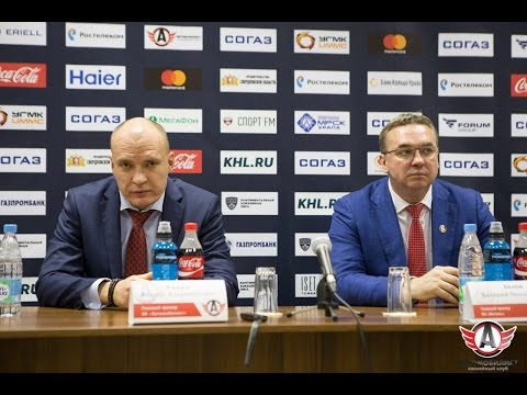 Пресс-конференция: Автомобилист - Витязь, 22.10.2016