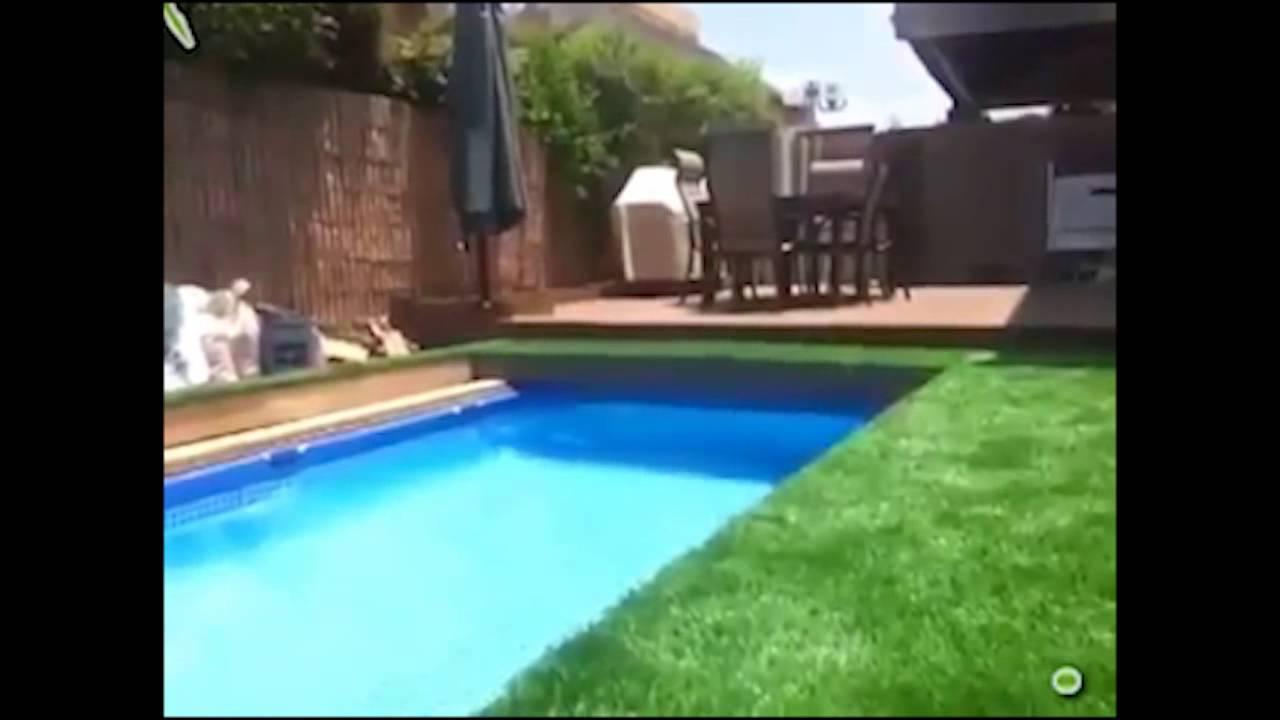 Diddy show off amazing underground swimming pool youtube for Underground swimming pool