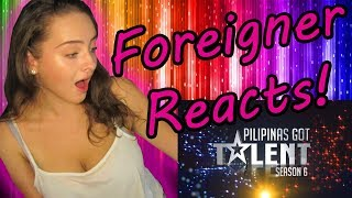 FOREIGNER REACTS TO PILPINAS GOT TALENT! VLOG REQUEST!