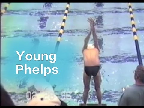 Young Michael Phelps 50 Butterfly -  11 Years Old - 1997