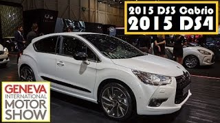 2015 DS3 Cabrio and 2015 DS4, live photos at 2015 Geneva Motor Show