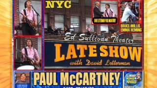 PAUL McCARTNEY CONCERT for LETTERMAN Crowd NYC