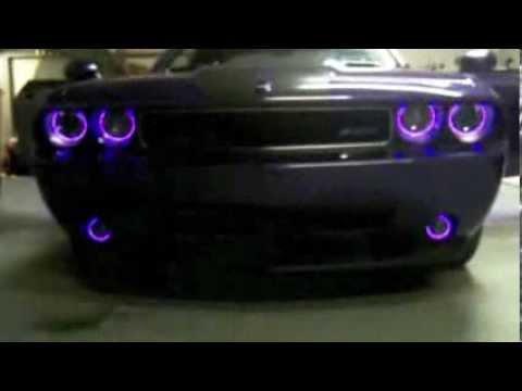 Dodge Challenger Plum Crazy Purple Srt8 Custom Uv Lighting