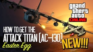 GTA 5: ATTACK TITAN (AC-130) EASTER EGG! (PARODY)