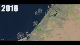 Dubai Growth From 1986 to 2018 Timelapse (32 years From Space)