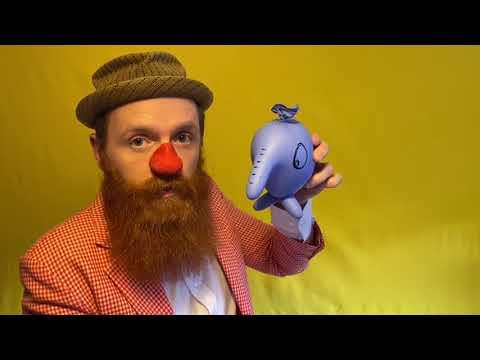 Rebus viser, hvordan du laver en ballon-elefant