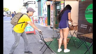 Chair Pulling Prank in Venice Beach!!!