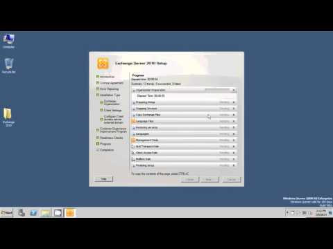 Installing Microsft Exchange 2010