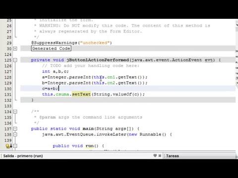 Netbeans Modo Grafico Jframe Java Video 2