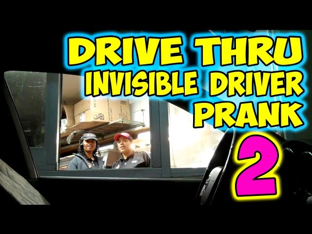 Drive Thru Invisible Driver Prank 2