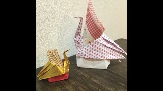 Toothpick holder of crane  鶴の爪楊枝入れ