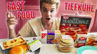 TIEFKÜHL vs FAST FOOD PRODUKTE - Der Test 😳 (Pizza, Chicken Nuggets, Burger)