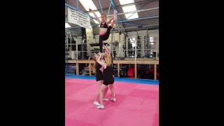 Junior 2 stunt group sequence - Kaela's team