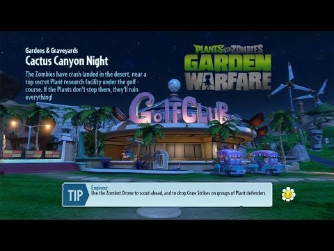 Cactus Canyon Night  Gardens &amp  Graveyards   Plants Vs. Zombies  Garden Warfare
