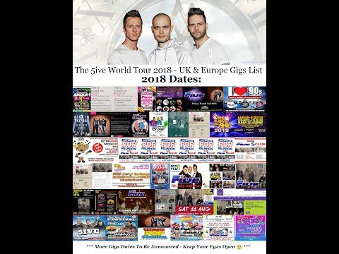 The @Official5ive Upcoming Gigs for 2018 - MORE TO COME!