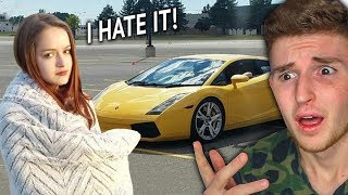 Girl Cries Over Getting The WRONG Color Lamborghini..