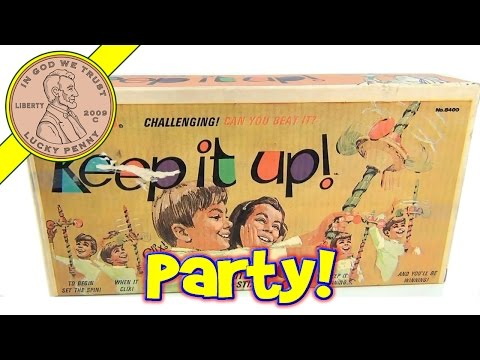 Keep It Up Party Spinning Toy Game, 1970 Kenner Products - When It Clix....Switch The Stix!