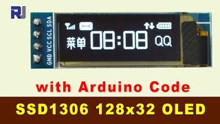 How to use SSD1306 128x 32 OLED Display I2C with Arduino code