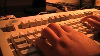 Typing on an IBM Model M Keyboard