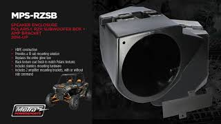 Metra PowerSports Speaker Enclosure, Subwoofer Box and Amp Brackets for Polaris RZR