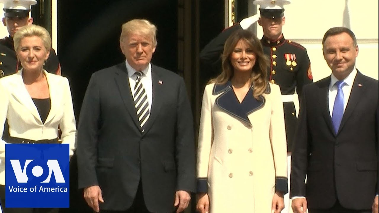 Polish President Andrzej Duda And His Wife Arrives At The White House