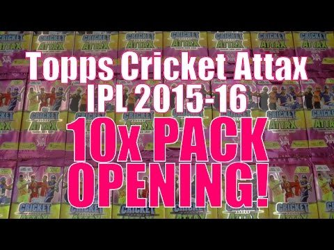 SCRATCH N WIN! ☆ 10x PACKS OPENING ☆ Topps CRICKET ATTAX Indian Premier League 2015-16 Trading Cards