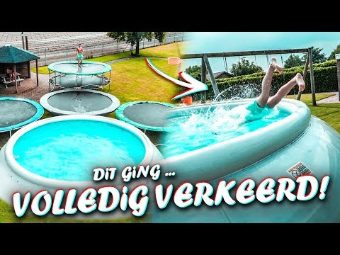 DIT GING VOLLEDIG VERKEERD! | trampoline