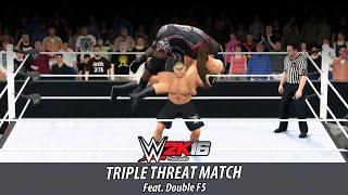 WWE 2K16 - Brock Lesnar vs Big Show vs Mark Henry   Triple Threat Match   PS4 Gameplay