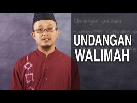 Serial Fikih Keluarga (29): Undangan Walimah Pernikahan - Ustadz Aris Munandar