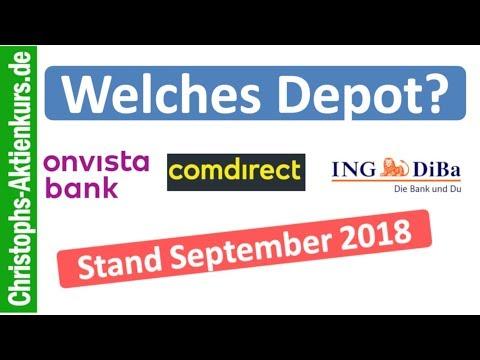 Welches Depot für Anfänger? Aktien-Depot Vergleich Onvista - Comdirect - Diba | Stand September 2018