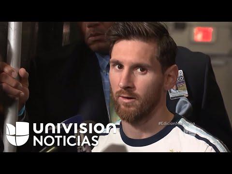 Recibiendo a Messi en Argentina